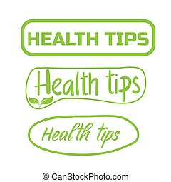 Health tips, badge, icon. Flat vector illustration on white background