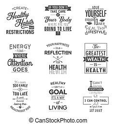 Health. Typography quotes.