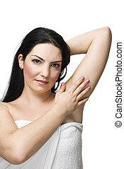 Health woman skin