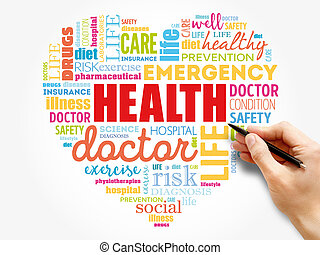 HEALTH word cloud collage, health concept