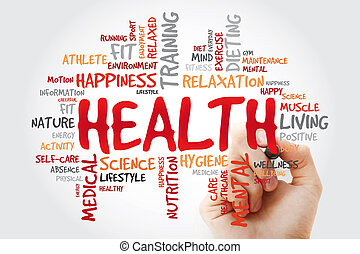 HEALTH word cloud with marker