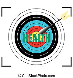 HEALTH word Vector, business concept.