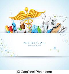 healthcare, és, orvosi, háttér