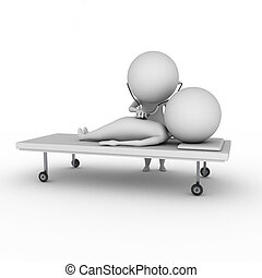 healthcare - 3d rendered illustration of a little doctor and...