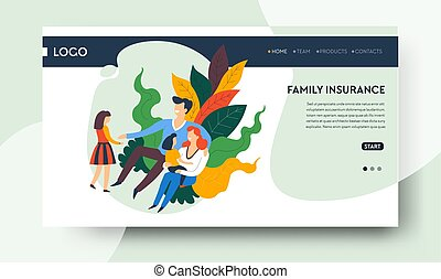 Healthcare and family insurance, pediatric clinic and...
