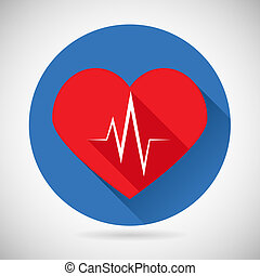 Healthcare and Medical Care Symbol Heart Beat Rate Icon Design Template Vector Illustration