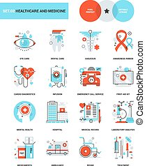 Healthcare and Medicine - Abstract vector collection of...
