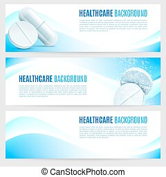 Healthcare and Medicine Banners - Collection of 3 healthcare...