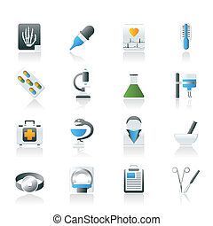 Healthcare and Medicine icons - vector icon set