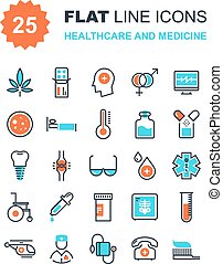 Healthcare and Medicine - Abstract vector collection of flat...