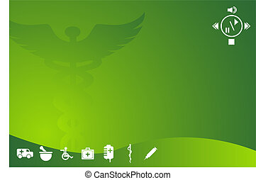 Healthcare Background with medical themed design elements in...