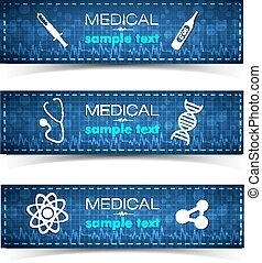 Healthcare Banners Set