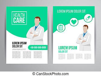 healthcare brochure - Vector health care brochure for clinic...