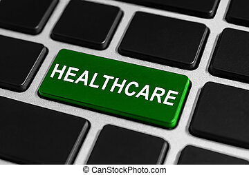 healthcare button on keyboard