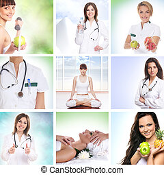 Healthcare collage made of some pictures