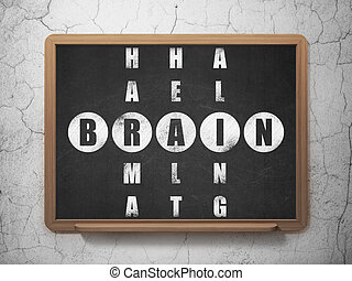 Healthcare concept: Brain in Crossword Puzzle - Healthcare...
