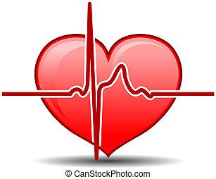 Healthcare concept - Heart with pulse graph as a healthcare...