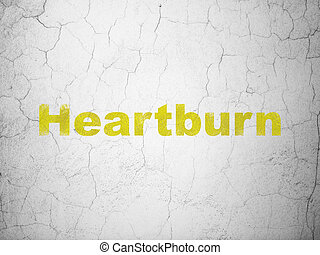 Healthcare concept: Heartburn on wall background