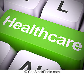 Healthcare concept icon means having a medical check up or physical - 3d illustration