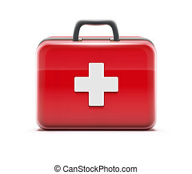 illustration of healthcare concept with first aid box icon