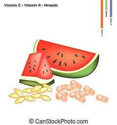 Watermelon with Vitamin C and Vitamin A