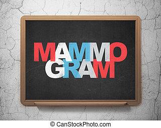 Healthcare concept: Mammogram on School Board background -...