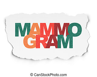 Healthcare concept: Mammogram on Torn Paper background
