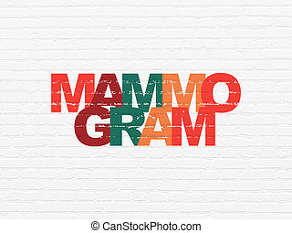 Healthcare concept: Mammogram on wall background -...