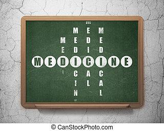 Healthcare concept: Medicine in Crossword Puzzle -...