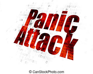 Healthcare concept: Panic Attack on Digital background