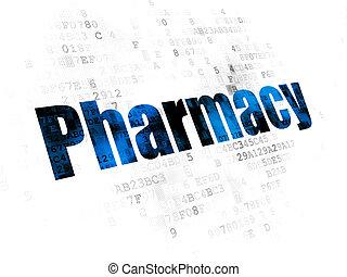 Healthcare concept: Pharmacy on Digital background