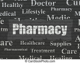 Healthcare concept: Pharmacy on wall background