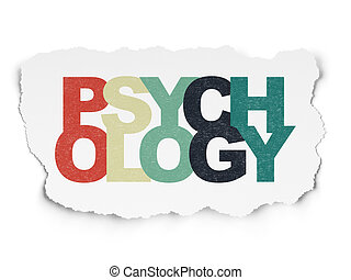 Healthcare concept: Psychology on Torn Paper background