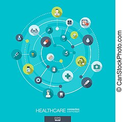 Healthcare connection concept. Abstract background with...