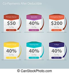 Healthcare Copayment Deductible Icon - An image of a...