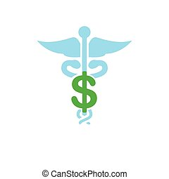 Healthcare costs and expenses showing concept of expensive health care