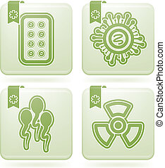 """Healthcare - 4 icons in """"Healthcare"""" from left to right:..."""