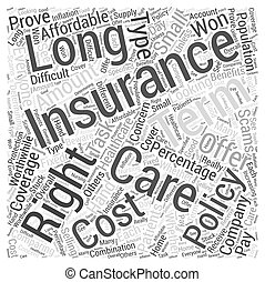 Healthcare for Long term Patients Is this Insurance Right for You Word Cloud Concept