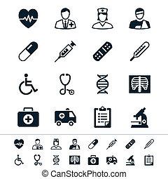 healthcare, icônes