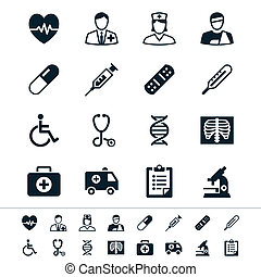 Healthcare icons - Simple vector icons. Clear and sharp....