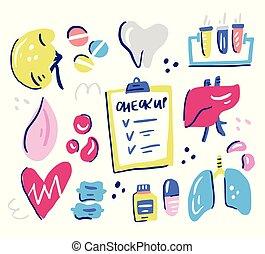 Healthcare Interior Organs - Set of human organs in need of...