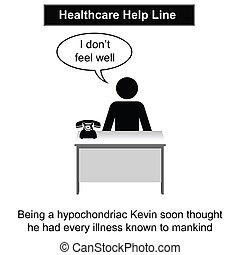 Healthcare - Kevin was in the wrong job cartoon isolated on ...
