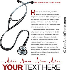 Healthcare Layout - Vector healthcare page layout with...