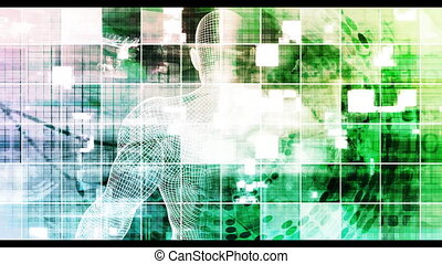 Healthcare Medical Abstract Background with Human Head ...