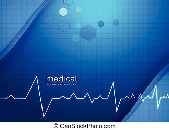 healthcare medical background with electrocardiogram