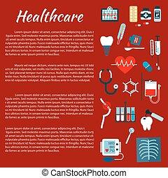 Healthcare medical infographic leaflet