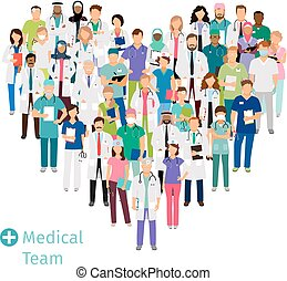 healthcare, medizin, form, herz, mannschaft