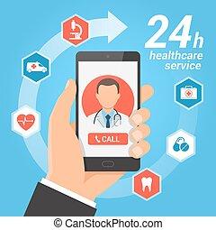 Healthcare mobile service concept.