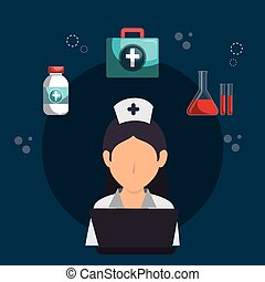 healthcare professional avatar character