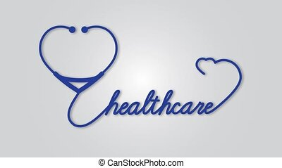 Healthcare - stethoscope with heart icon. Healthcare medical...